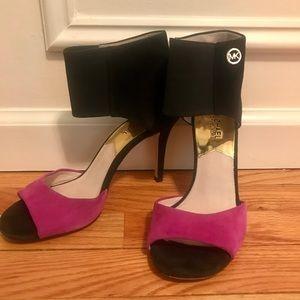 Michael Kors Black & Fuchsia heels